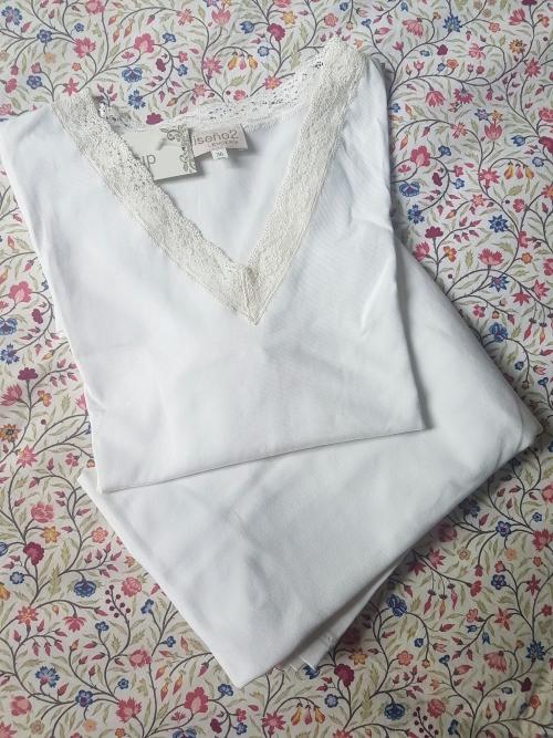 Pijama Vera punto de algodón crudo